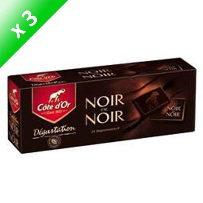 [LOT DE 3] Morceaux de chocolat noir 240 g Côte d'Or