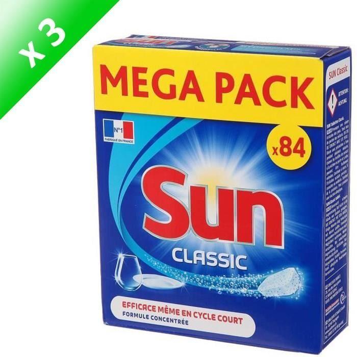 SUN Tablettes lave-vaisselle Classic - Lot de 84 x 3