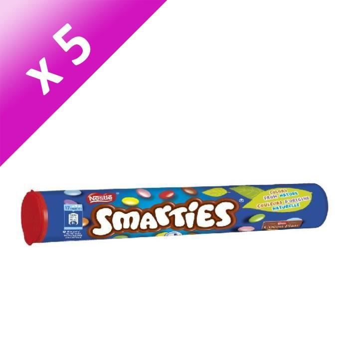 [LOT DE 5] NESTLE Bonbons Smarties en tube - 130 g