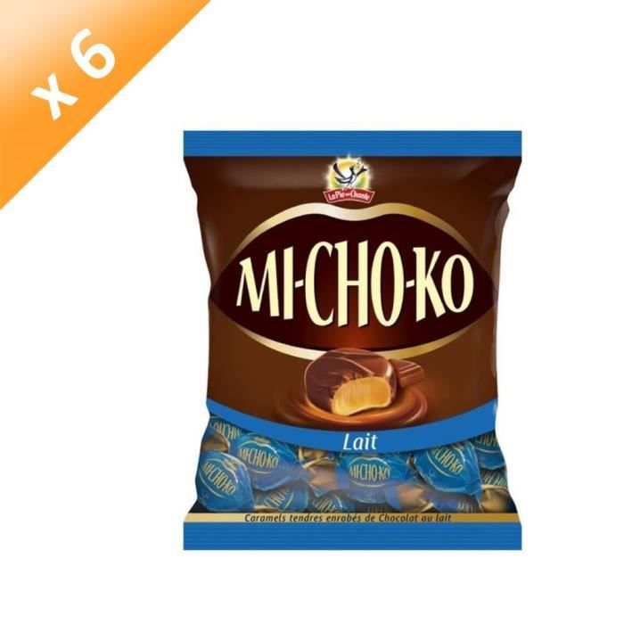 [LOT DE 6] LA PIE QUI CHANTE Caramels tendres enrobés de chocolat au lait Mi-Cho-Ko - 280 g