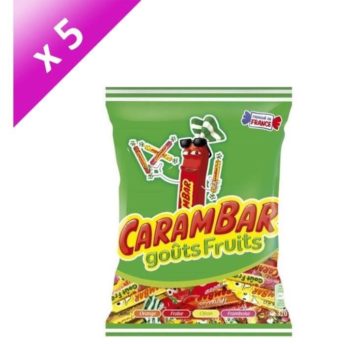 [LOT DE 5] Confiseries aromatisées 320g Carambar