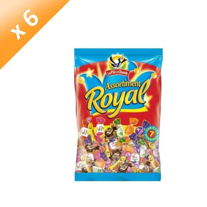 LA PIE QUI CHANTE Lot de 6 Bonbons Assortiment Royal - 350 g