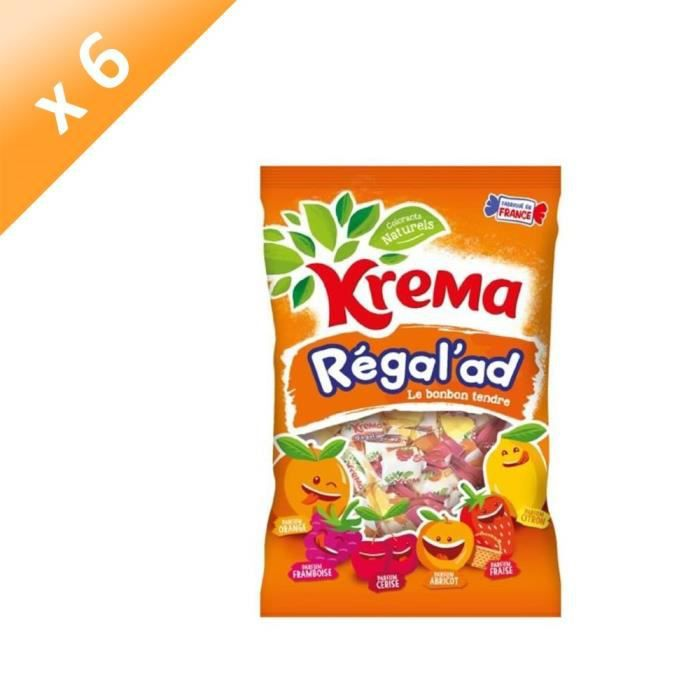 [LOT DE 6] KREMA Bonbons Régal'ad - 380 g