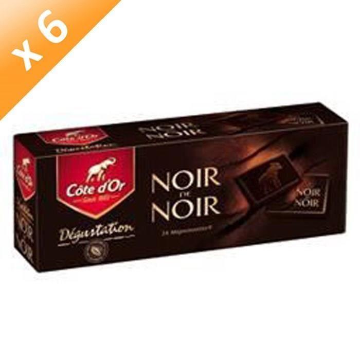 [LOT DE 6] Morceaux de chocolat noir 240 g Côte d'Or