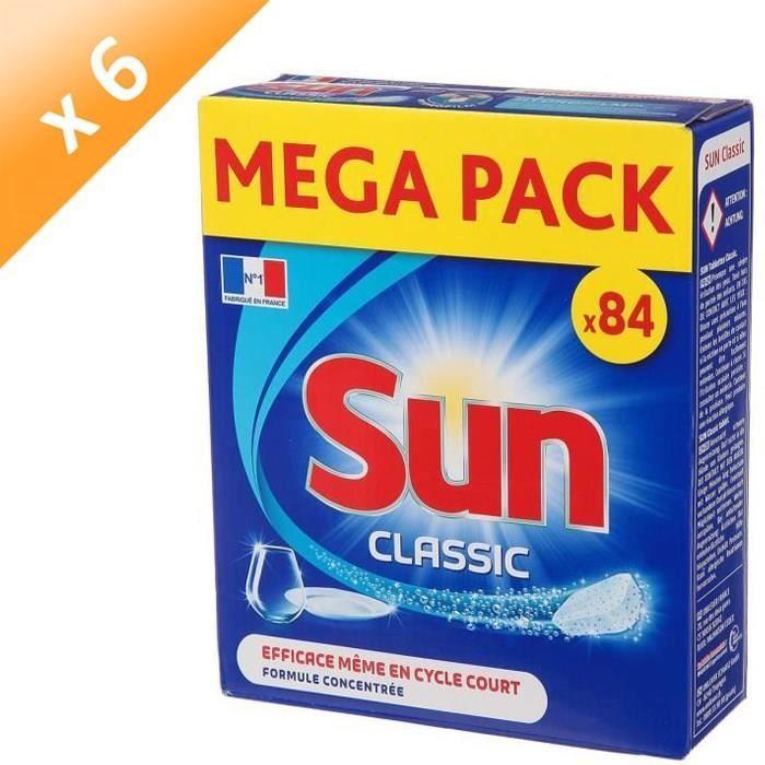 SUN Tablettes lave-vaisselle Classic - Lot de 84 x 6