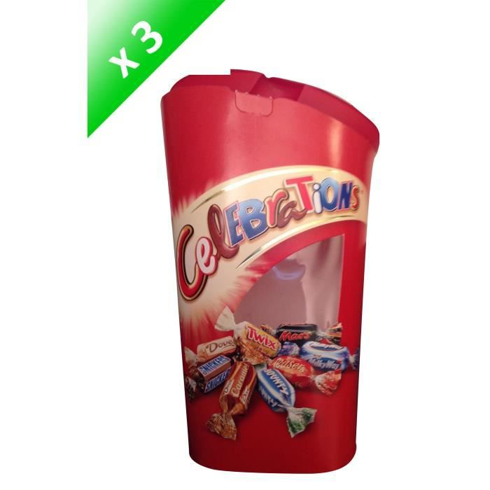 [LOT DE 3] MARS Bonbons assortis Célébrations en ballotin - 380 g