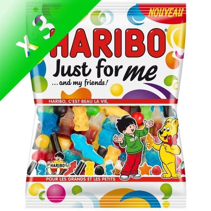 [LOT DE 3] HARIBO Bonbons Just for me … and my friends - 275 g