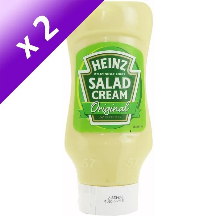[LOT DE 2] HEINZ Sauce Salad Cream Squeeze - 425 g