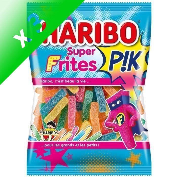 [LOT DE 3] HARIBO Bonbons Super Frites Pik - 200 g