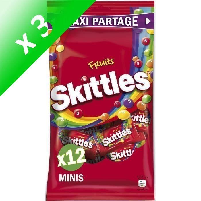 [LOT DE 3] SKITTLES Bonbons tendres dragéifiés Maxi Partage, goûts fruits - 26 g