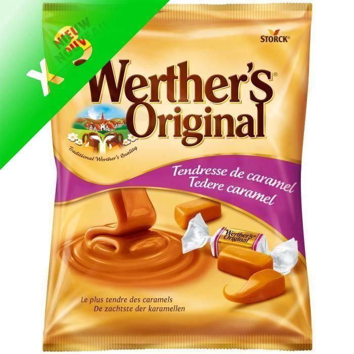 WERTHER'S ORIGINAL Caramels tendres - 158 g (Lot de 3)