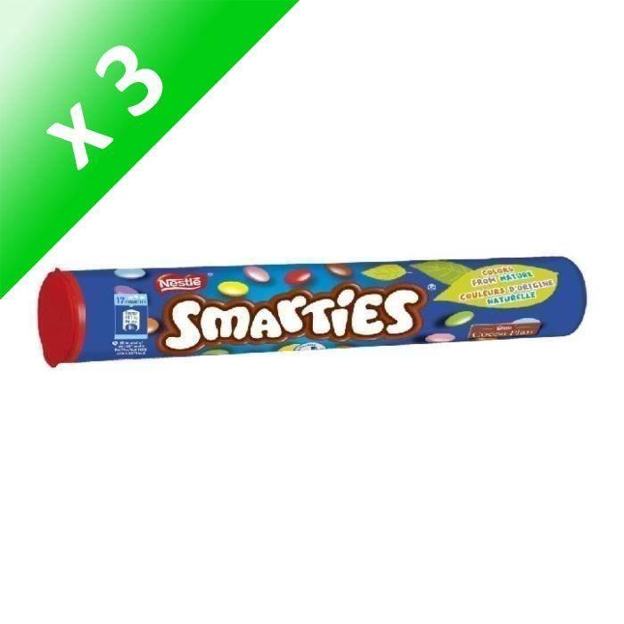 [LOT DE 3] NESTLE Bonbons Smarties en tube - 130 g