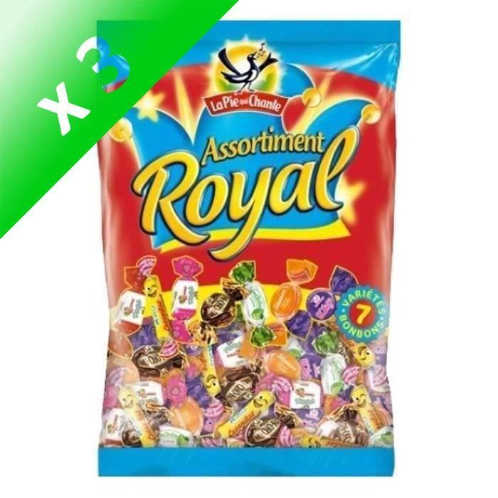 LA PIE QUI CHANTE Bonbons Assortiment Royal - 350 g (Lot de 3)
