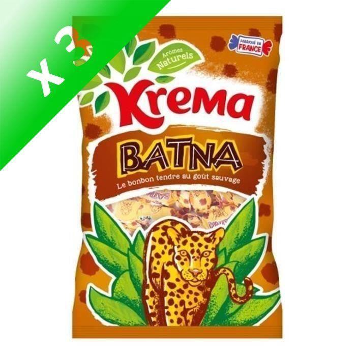 [LOT DE 3] KREMA Bonbons tendres Batna, arômes naturels - 360 g
