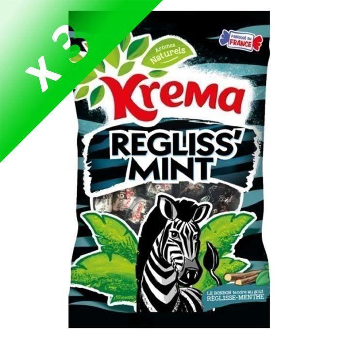 [LOT DE 3] KREMA Bonbons Regliss Mint - 280 g