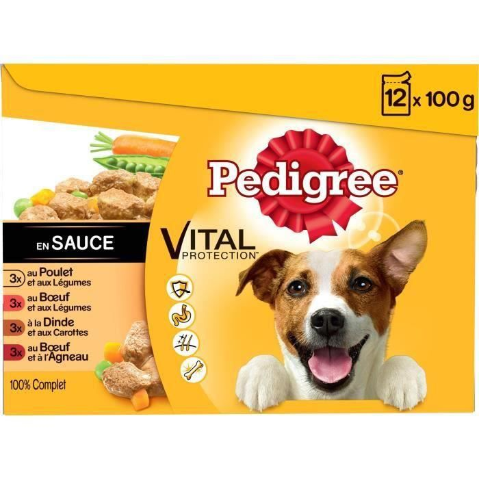 PEDIGREE Sachets fraîcheur en sauce 4 variétés - Pour chien - 24 x 100 g