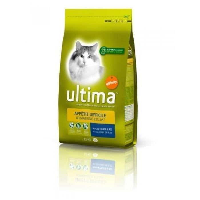 ULTIMA Croquettes - Pour chat difficile - 1,5 kg (Lot de 3)