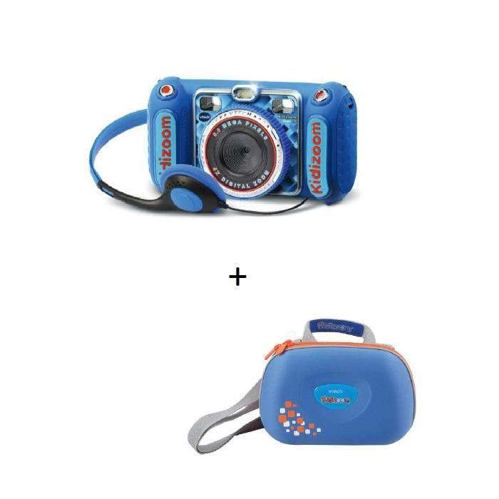 VTECH - Kidizoom Duo DX bleu + Sacoche Kidizoom bleue