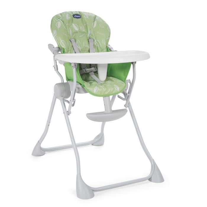 CHICCO Chaise haute Pocket Meal - Vert été