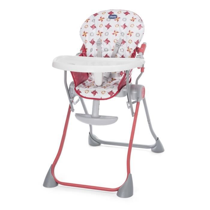 CHICCO Chaise haute POCKET MEAL Red