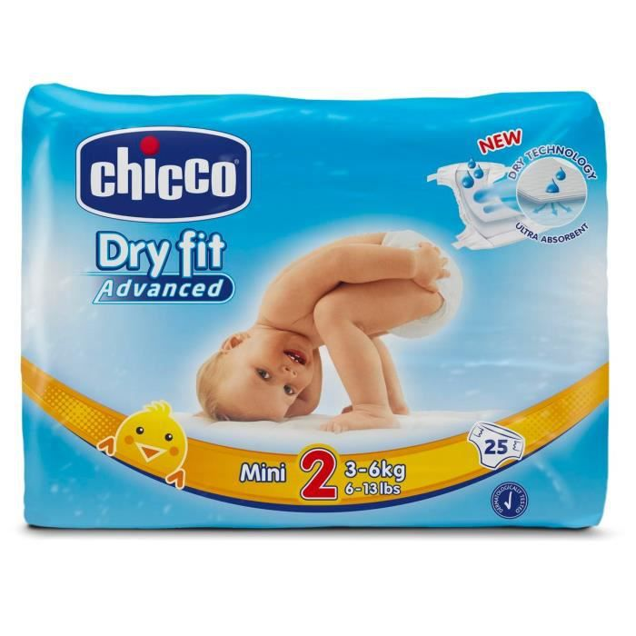 CHICCO Dry Fit Advanced Couches - Taille 2 Mini x 25