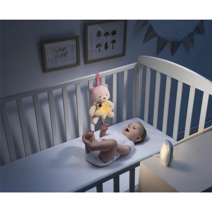 CHICCO Écoute bébé audio Top First Dreams + veilleuse Petit Ourson First Dreams - Rose