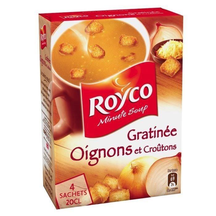 Soupe à l'oignon gratinée 4x20cl Royco Minute