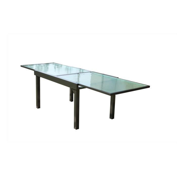 Table de jardin extensible Brescia, en aluminium