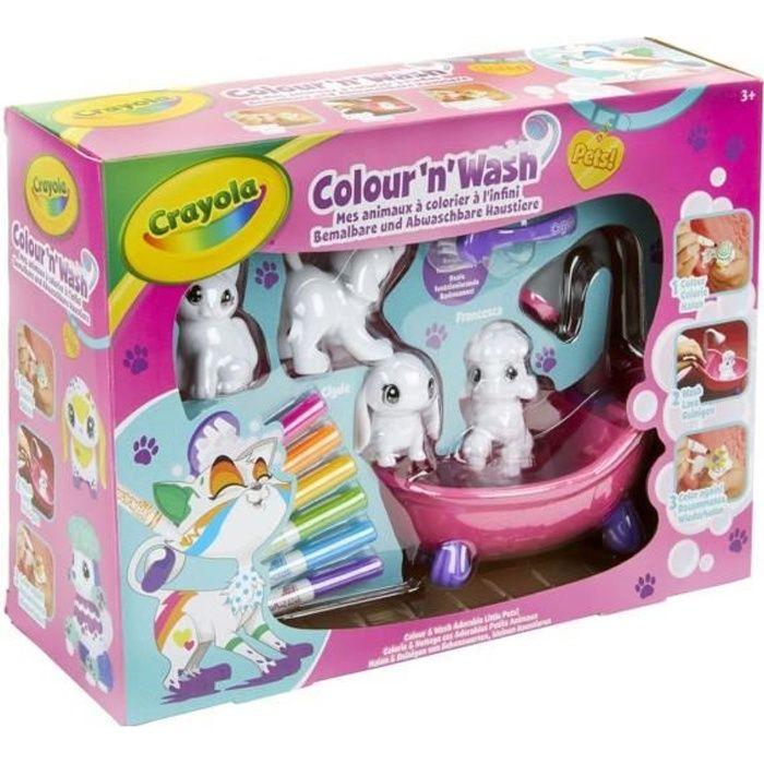 Crayola - Color'N'Wash - Mes Animaux à Colorier - Coffret - Dessiner - Laver - Recommencer