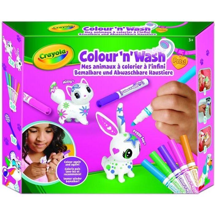 Crayola - Color'N'Wash - Mes Animaux à Colorier - Kit 1 - Dessiner - Laver - Recommencer