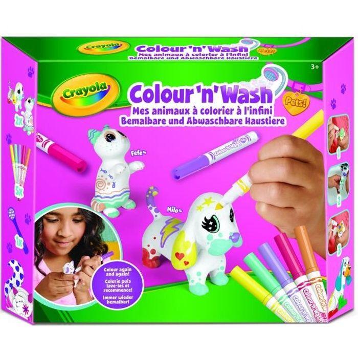 CRAYOLA Color'N'Wash pets - Mes Animaux à Colorier - Kit 2