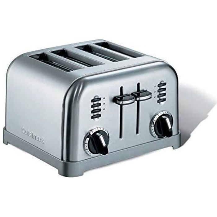 Cuisinart CPT180E Toaster 4 fentes extra larges, 1800 W, Acier brossé CPT180E