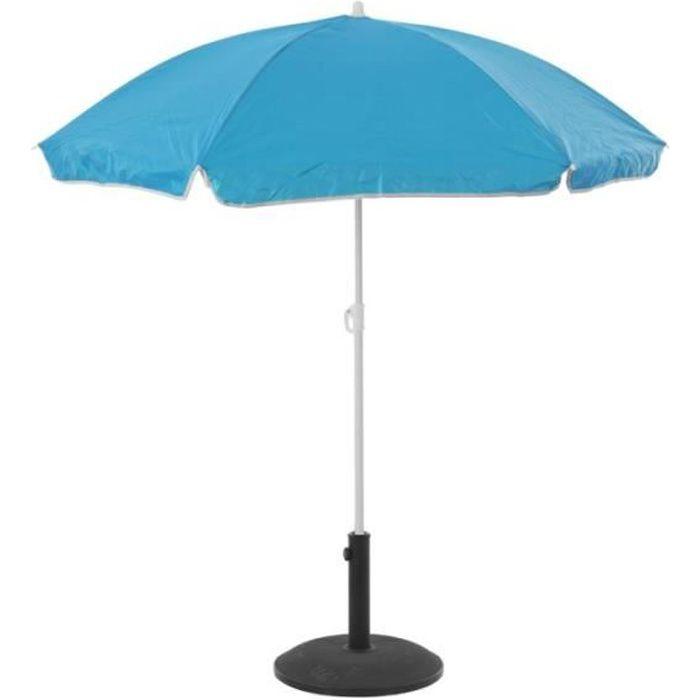 Parasol de plage anti-UV - L 140 cm x H 175 cm - Bleu