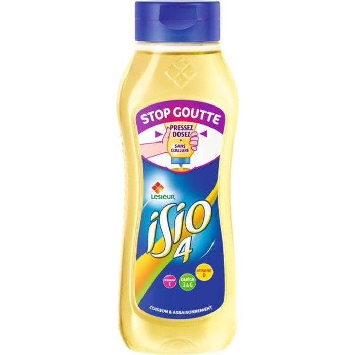 Bouteille d'huile stop goutte 675g Isio 4