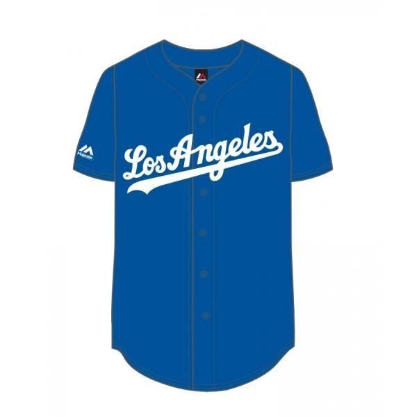 Maillot de Baseball MLB 2017 Los Angeles Dodgers Majestic Bleu