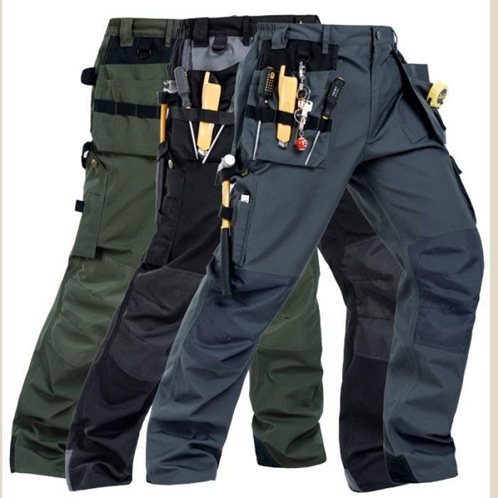 Zencart Pantalon Multi-poches De Travail Résistant à L'usure Travailleur Mécanicien Cargo Pantalon Travaillent Pantalon D'usure D