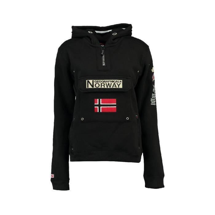 Sweat Femme Geographical Norway Gymclass New B Noir