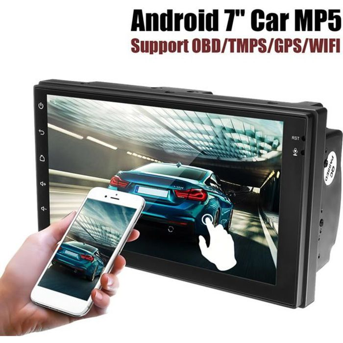 NEUFU Voiture Autoradio Android 6.0 1G+16G 7'' HD 2Din OBD/WIFI/Bluetooth 4.0/FM/TPMS