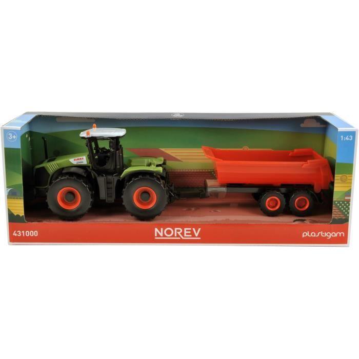 NOREV Tracteur 35 cm Claas + 1 Remorque