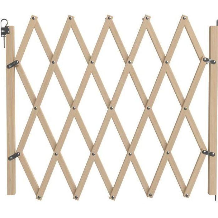 NORDLINGER PRO Barrière Stopfix extensible en bois - Pour chien