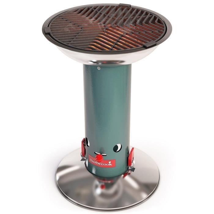 BARBECOOK Barbecue à charbon de bois Largo - Fonte - Vert