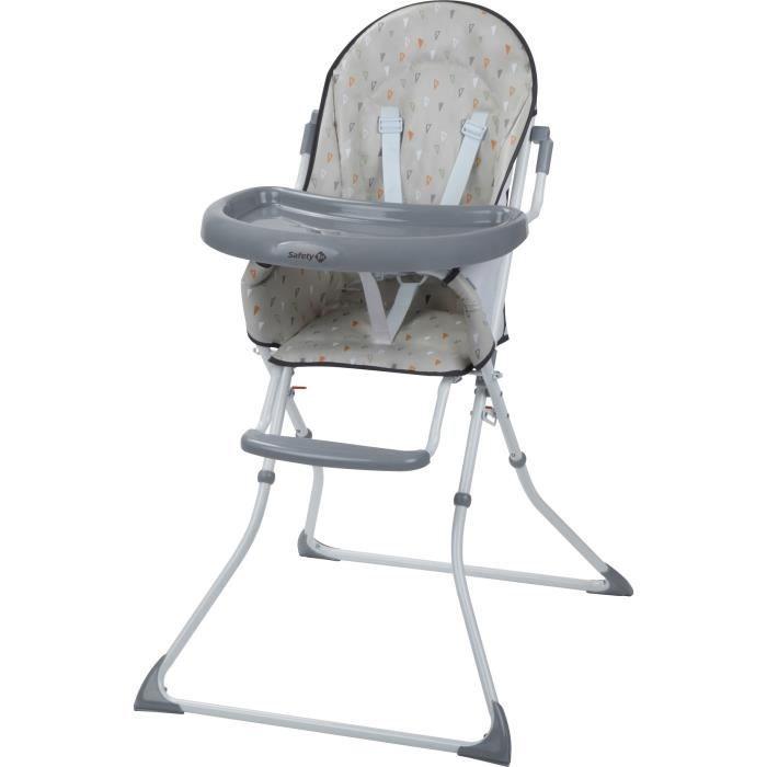 SAFETY 1ST Chaise Haute Kanji, De 6 mois à 3 ans, Pliage compacte, Porte-gobelet intégré, Warm Grey