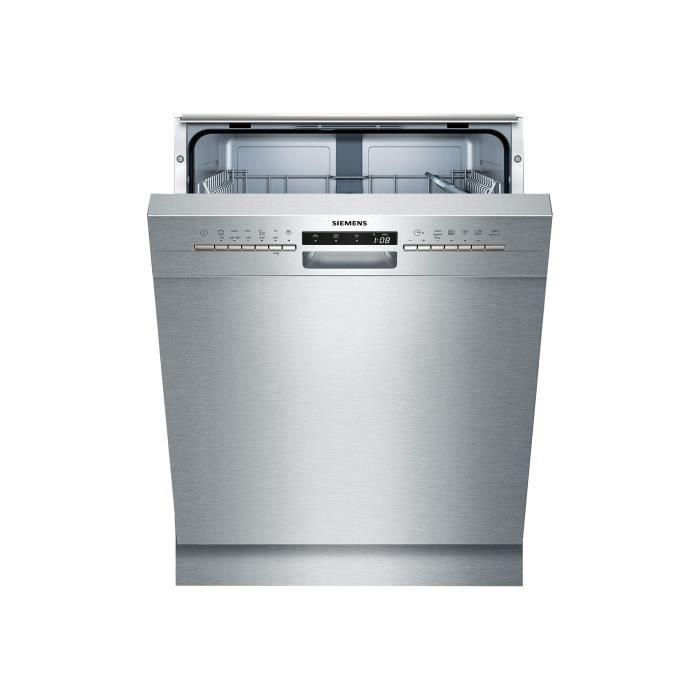 Siemens iQ300 SN436S01GE Lave-vaisselle intégrable Niche largeur : 60 cm profondeur : 55 cm hauteur : 81.5 cm inox