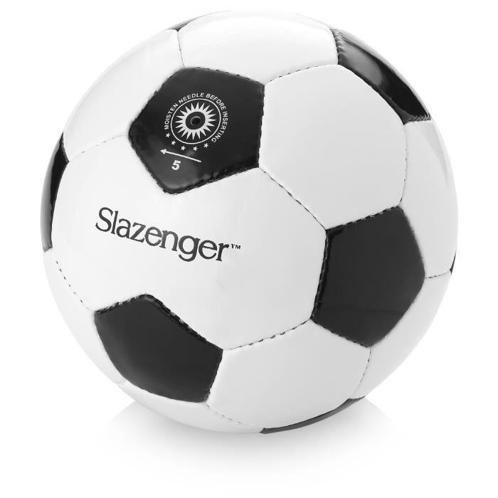 Slazenger - Ballon de football - blanc-noir