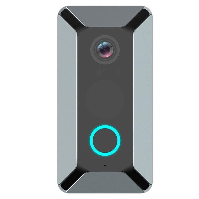 Visiophone Interphone Sonnette WIFI sans fil 720P Cloche de maison de sécurité à domicile étanche