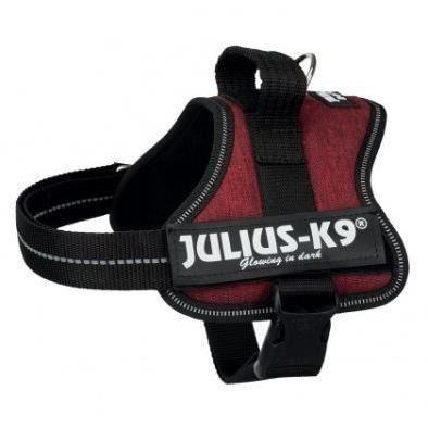 JULIUS K9 Harnais Power Baby 2–XS–S : 33–45 cm - 18 mm - Rouge bordeaux - Pour chien