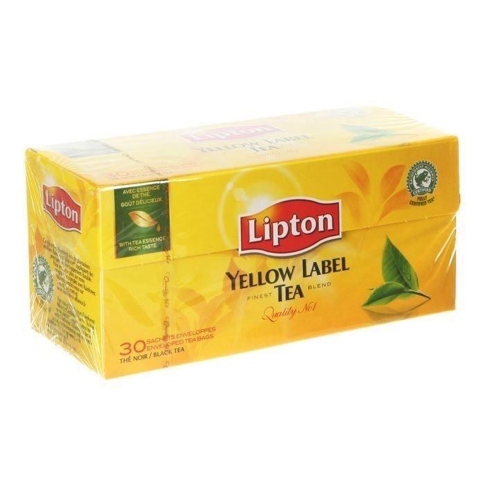 Yellow thé noir x 30 Lipton