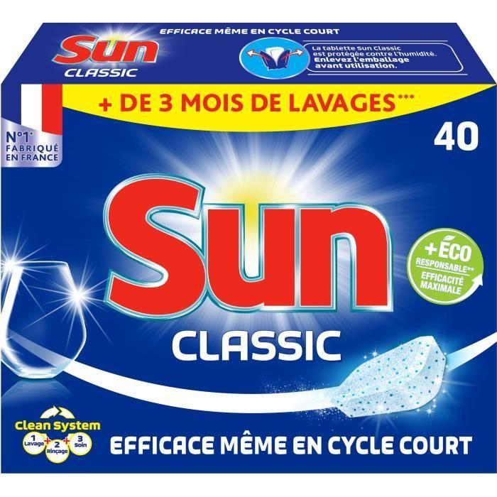 Tablettes lave-vaisselle classic x 40 Sun
