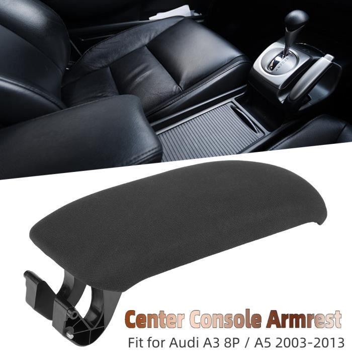 Couvercle d'accoudoir de Console centrale en tissu noir de voiture pour Audi A3 8P - A5 2003-2013 8P0864245P ABI03