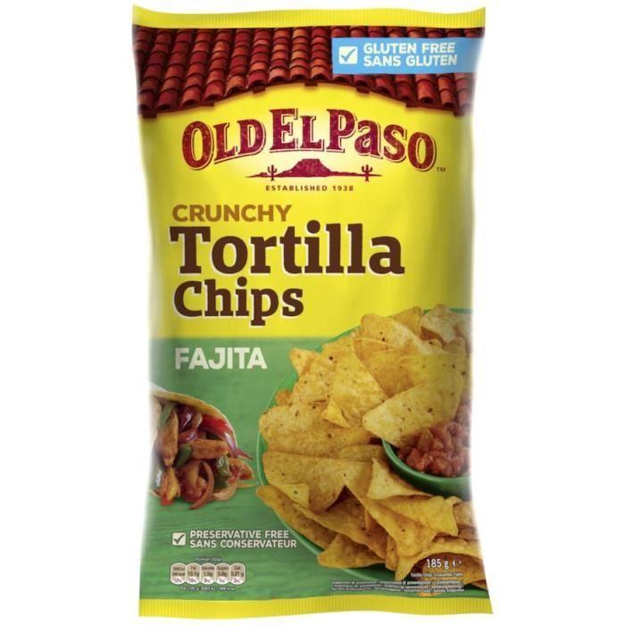 Chips de mais Crunchy fajitas 185g Old el Paso